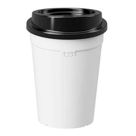 Coffee to go: white incl. black lid